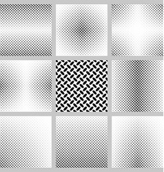 Black and white ellipse pattern background set vector image