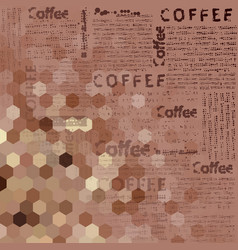 Brown coffee pattern vector