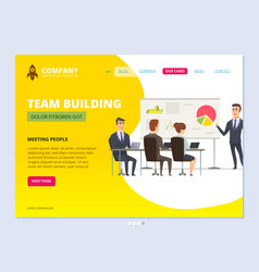 business team landing director standing and vector image