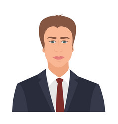 Businessman with suit and tie standing confidently vector