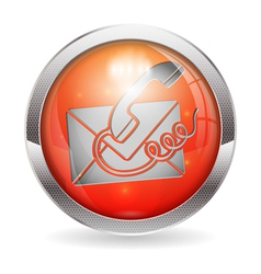 Button Contact Us vector image