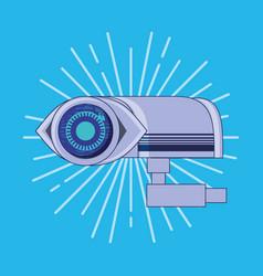 Cctv camera with eye data privacy icon vector