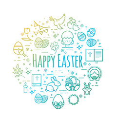 celebration easter signs happy easter vector image