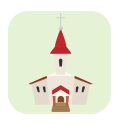 Church cartoon icon vector image