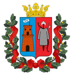 Coat arms rostov-on-don in rostov oblast of vector