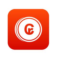 Coins cruzeiro icon digital red vector