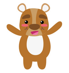 Colorful cute and cheerful bear wild animal vector