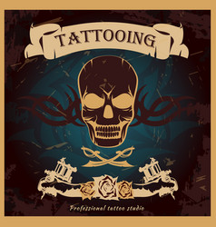 colorful tattoo poster vector image