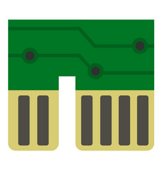 Computer chipset icon isolated vector