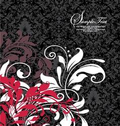 damask invitation floral card vector image