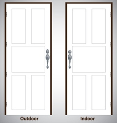 Design the door on white and grey background vector