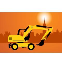 Digger construction vector