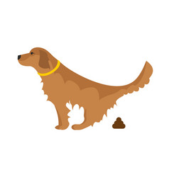 Dog pooping vector