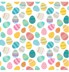easter egg seamless pattern bright colored vector image
