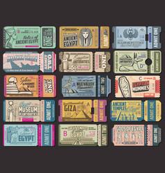 Egypt ancient culture tourist tour tickets vector