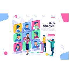 Employee job agency concept vector