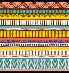 ethnic seamless pattern hand drawn tribal vector image