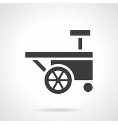 Festival trolley glyph style icon vector