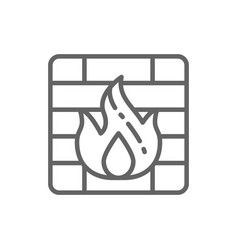 firewall line icon vector image