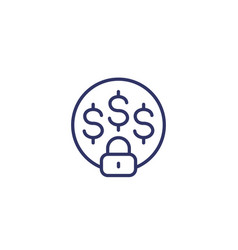 Fixed cost icon line vector