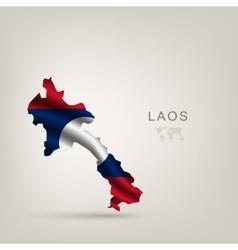 flag laos as a country vector image