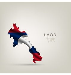flag of Laos as a country vector image