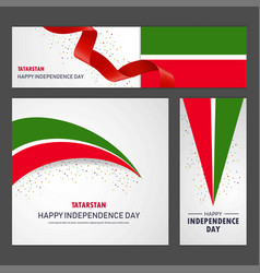 Happy tatarstan independence day banner and vector