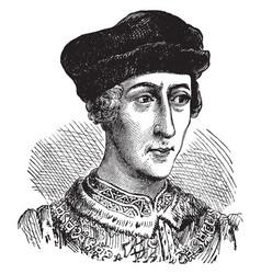 henry v of england vintage vector image