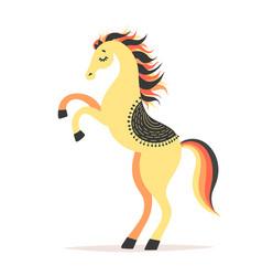 Horse reared circus vector