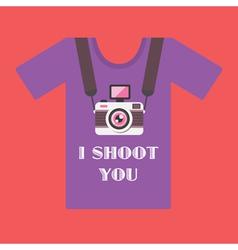 I shoot you vector image