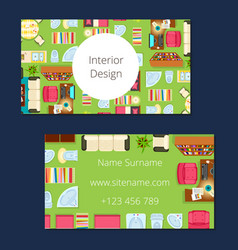 interior design business card vector image