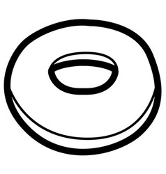 Isolated bagel outline vector