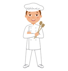 kid cooker chef or baker vector image