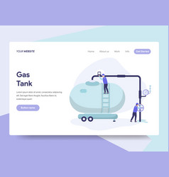 landing page template of gas tank concept vector image