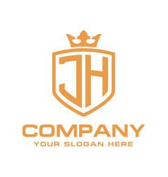 Letter jh initial logo luxury logo design vector