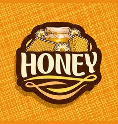 Logo for rustic honey vector