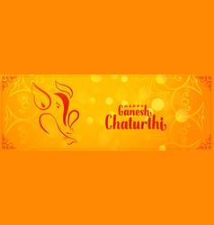 Lord ganesh chaturthi indian festival banner vector