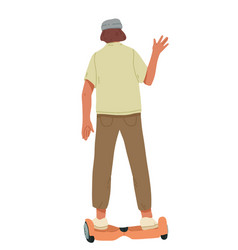 man ride on self-balancing scooter vector image