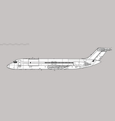 mcdonnell douglas c-9 nightingale skytrain ii vector image