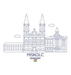 miscolc city skyline vector image