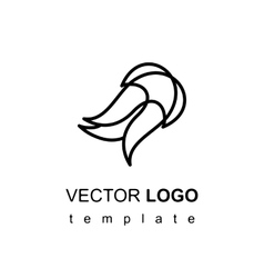Modern stylish logo design element in thin line vector