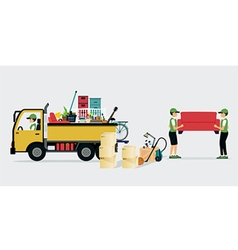 Moving Services vector image