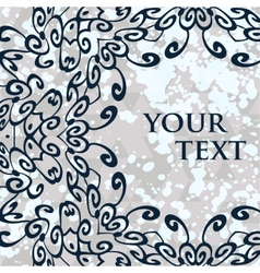 Ornamental mandala round frame for your text vector image