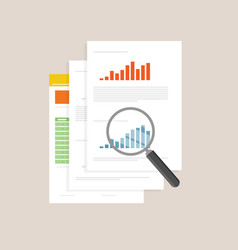 Overview analysis review cartoon icon vector