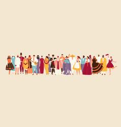 People multinational crowd vector