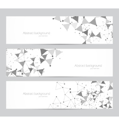 Polygonal banners vector