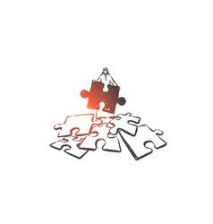problem solving challenge concept sketch hand vector image