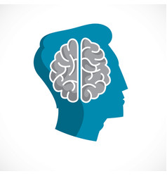 psychology concept logo or icon created with vector image