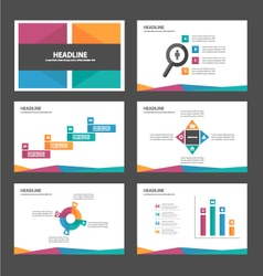 purple orange green blue presentation templates vector image
