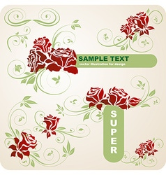 Romantic super floral set vector